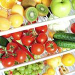 Photo of fresh fruit and vegtables in fridge